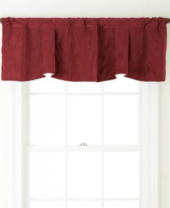 Velvet Rod Pocket Embroidered Valance Wine 54 X 20 Valance Valance Curtains Classic Curtains