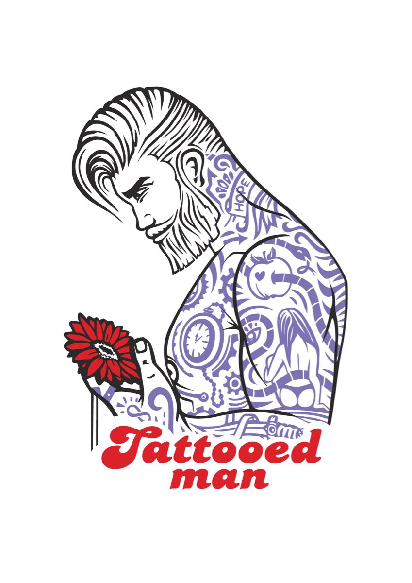 #tattooedmen #illustration #иллюстрации