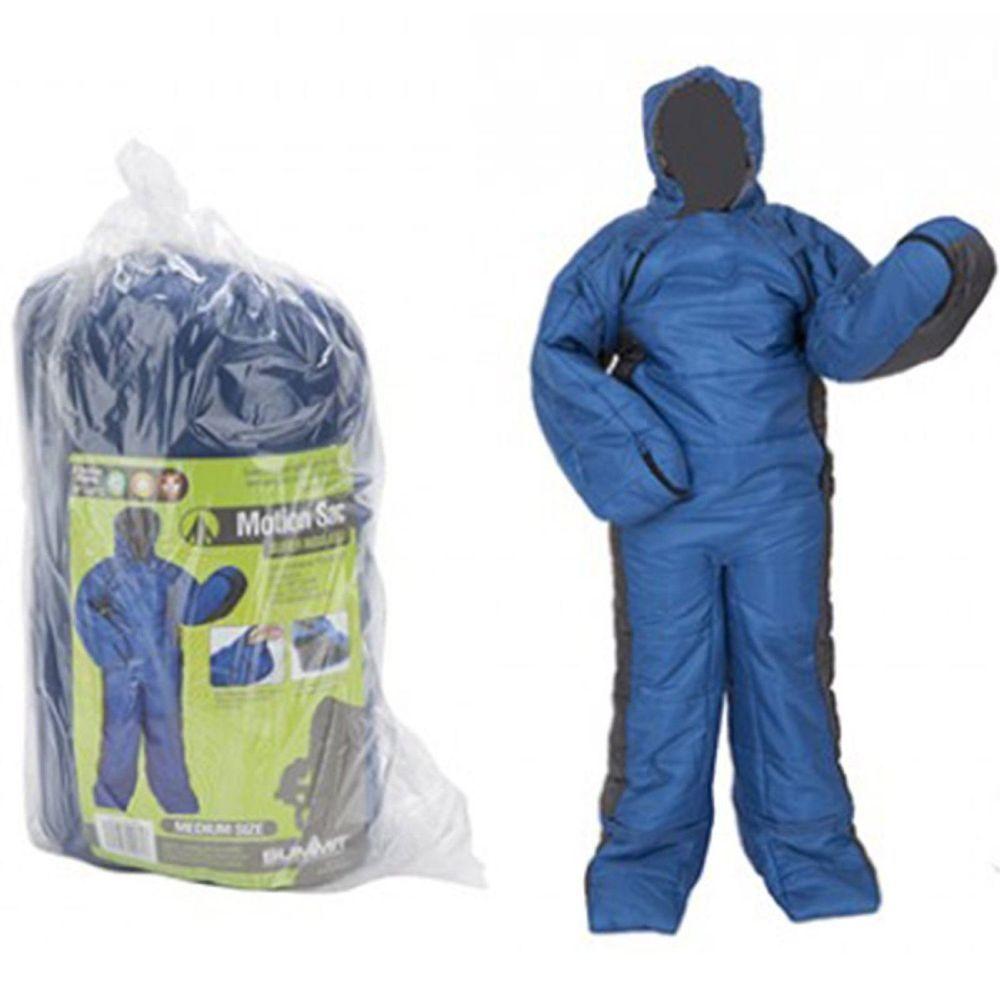 New Summit Sack Insulated Sleeping Bag Medium Suit Onesie Lightweight Blue
