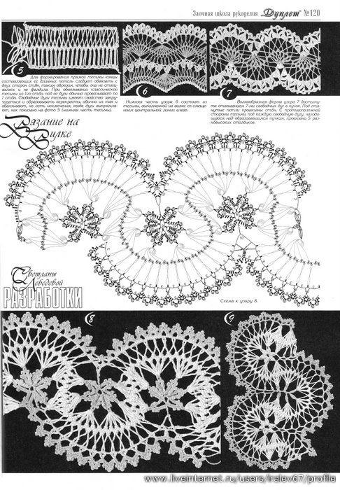 Журнал Дуплет (вилка, ленточное кружево). Russian crochet charts to ...