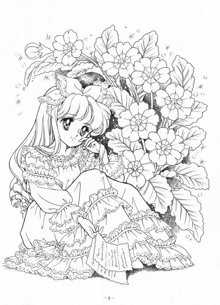 Раскраски аниме (с изображениями) | Раскраски, Книжка ...