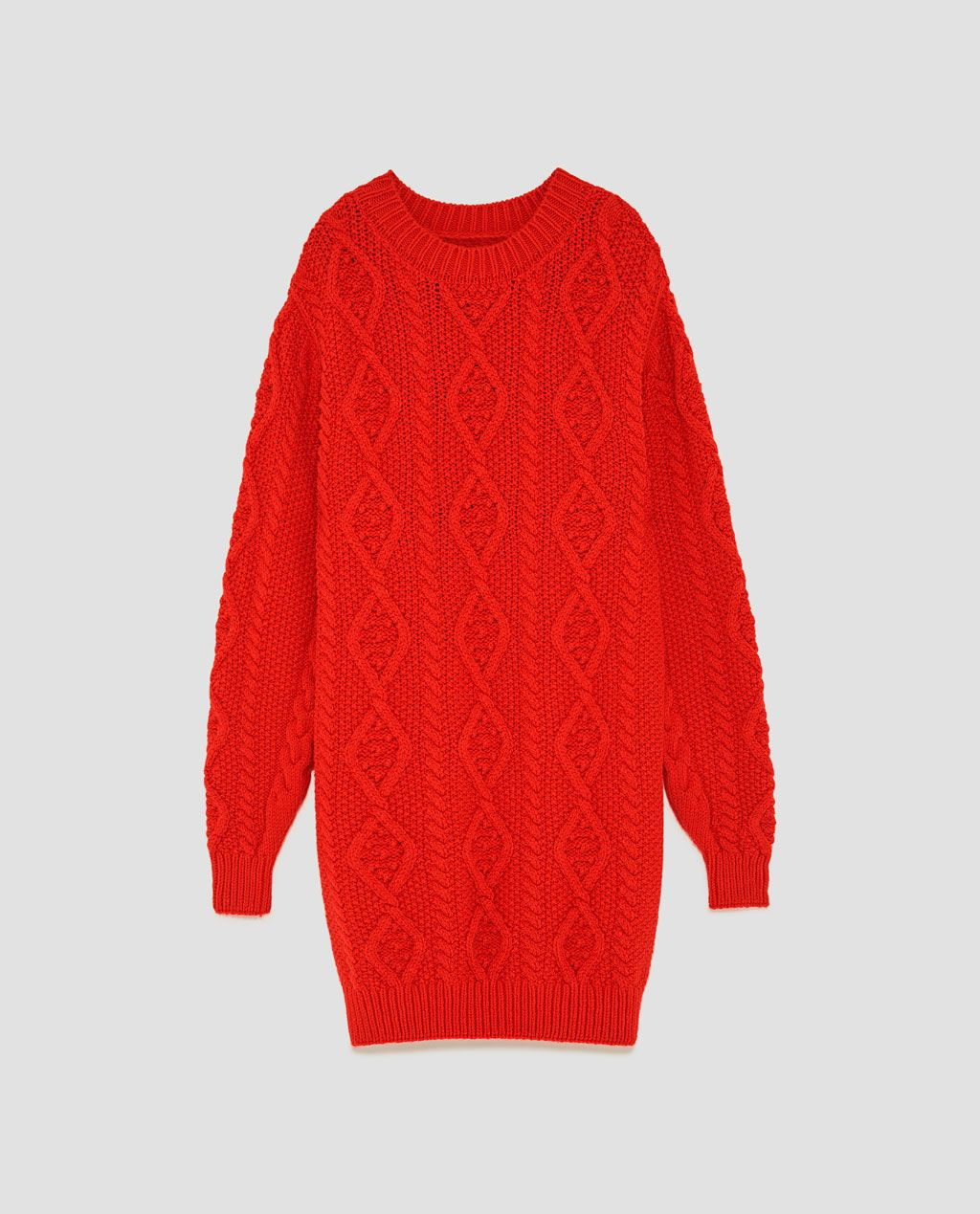 05f94468877521 Image 8 of CABLE KNIT SWEATER from Zara