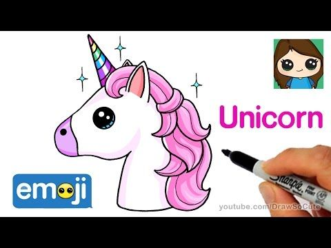 How To Draw A Unicorn Emoji Easy Youtube Met Afbeeldingen