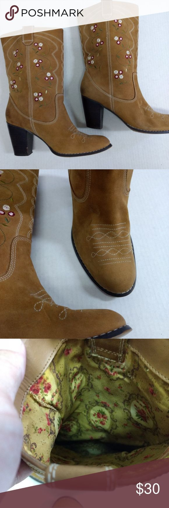 Seychelles Cowboy Boots Embroidered SZ 8.5 Brown Great Condition, Seychelles cow...,  ... Seychelles Cowboy Boots Embroidered SZ 8.5 Brown Great Condition, Seychelles cow...,