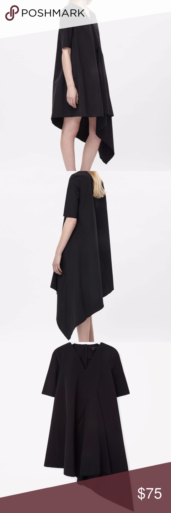 Cos black asymmetric dress my posh picks pinterest compliments