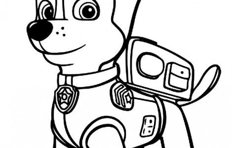 Chase paw patrol coloring pages silhouette portrait for Chase coloring page