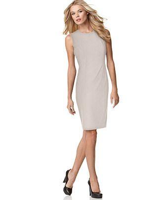 Calvin Klein Dress, Sleeveless Sheath Womens Dresses