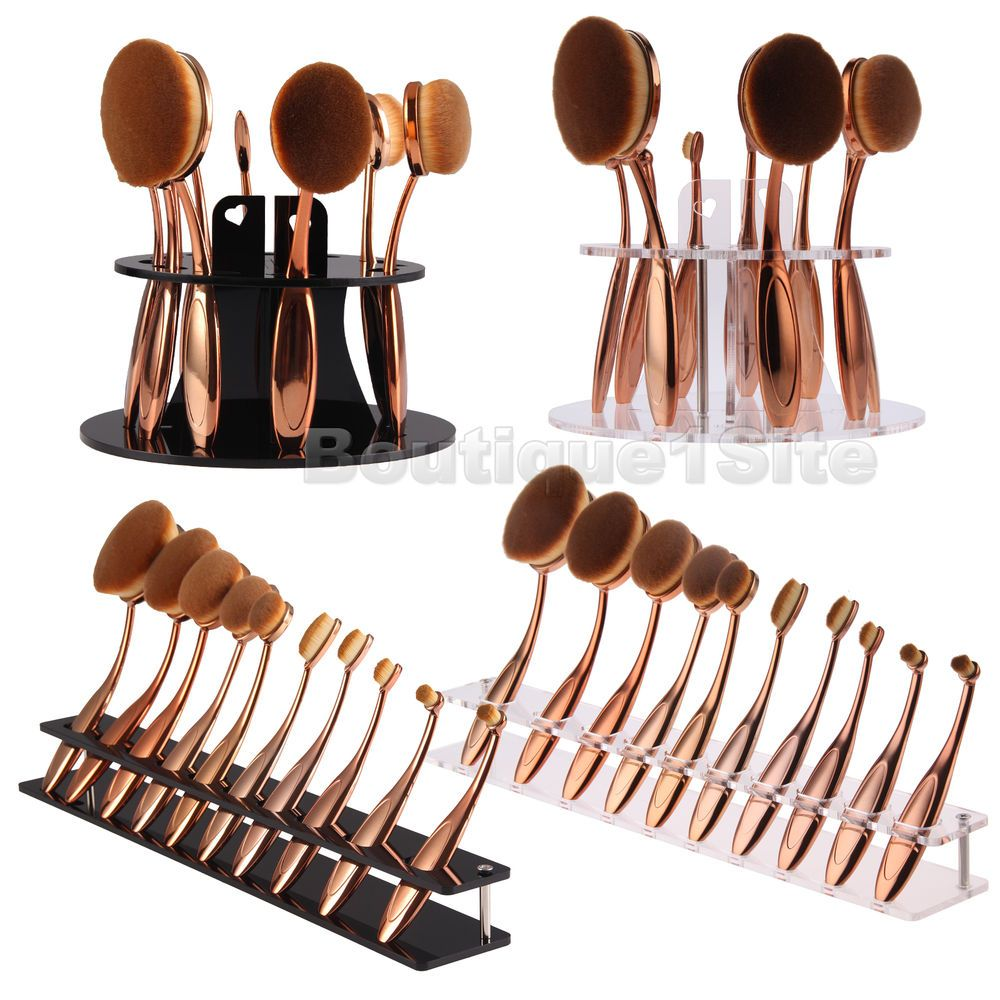 Organizes your brush, especially for oval makeup brushes