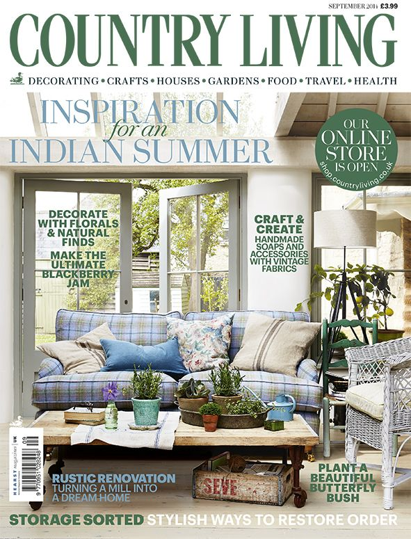 Country Living magazine September 2014 cover countryliving.co.uk
