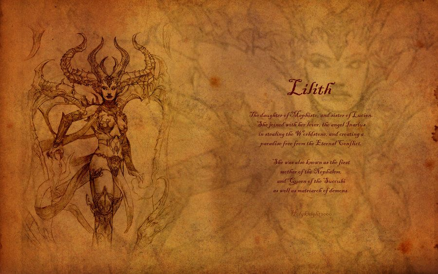 Lilith First Mother Of The Nephalem Lilith Adam And Eve Archetypes