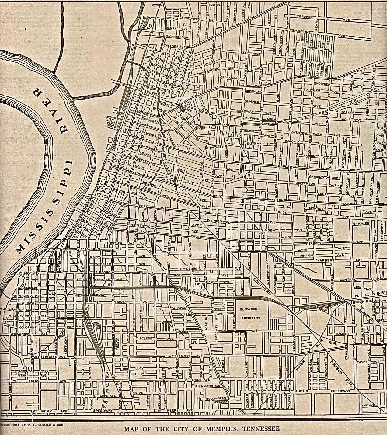Memphis Tennessee 1911 The New Encyclopedic Atlas and Gazetteer of