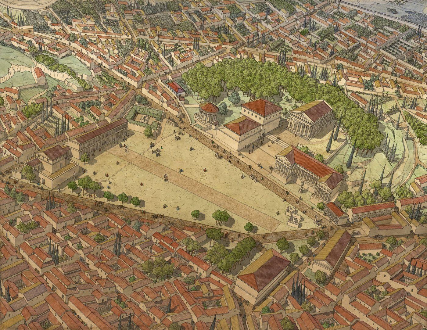 Athens Grece Athenes Empire Romain
