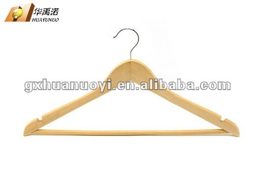 Cheap Wood Hanger Wood Hanger With Round Bar With Notches On Shoulder Sillas De Madera Rymachine Madera Percha Wood Hangers Wooden Hangers Round Bar