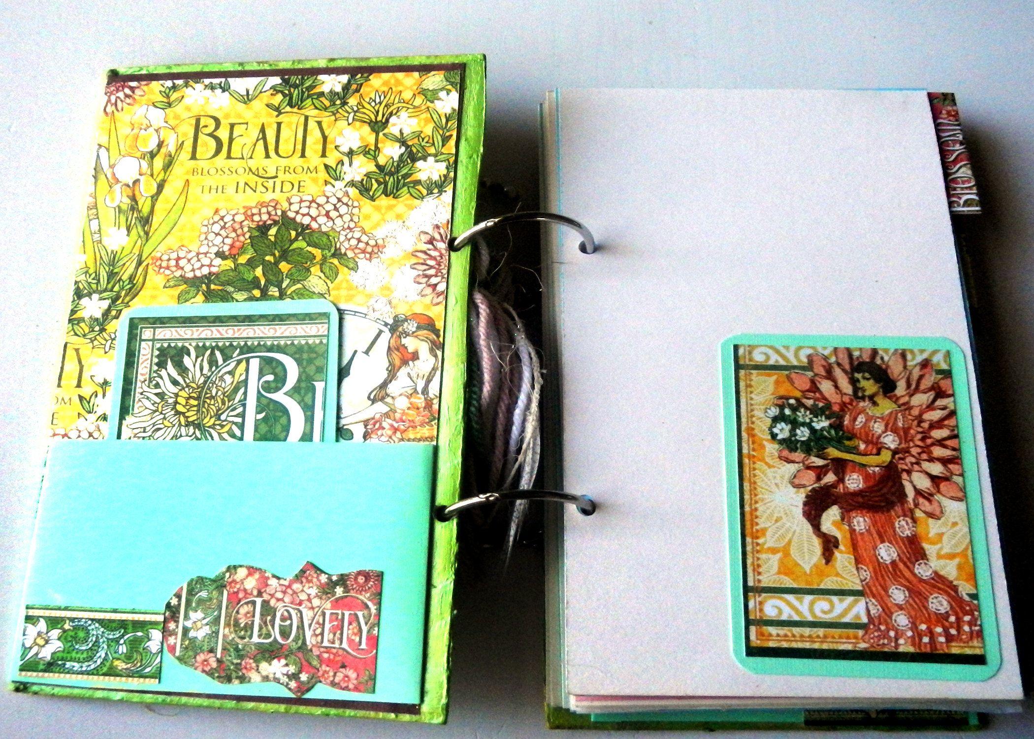 Handmade Journal Garden Goddess Graphic 45 Paper Junk Journal Gardeners Diary Garden Notebook Garden Di Handmade Journal Diy Journal Travel Journal Pages