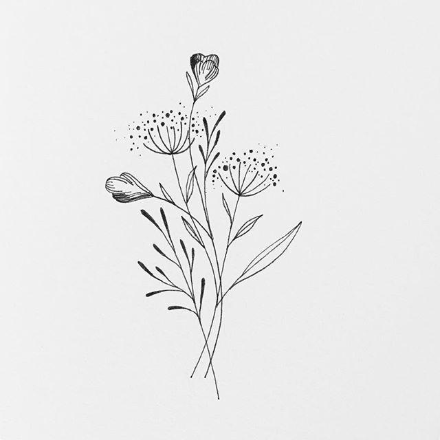 Photo of Oooooooh Montag. . . . . #Blumen #Botanische Illustration #Penandink #Blumen # ta… #tattoos, …