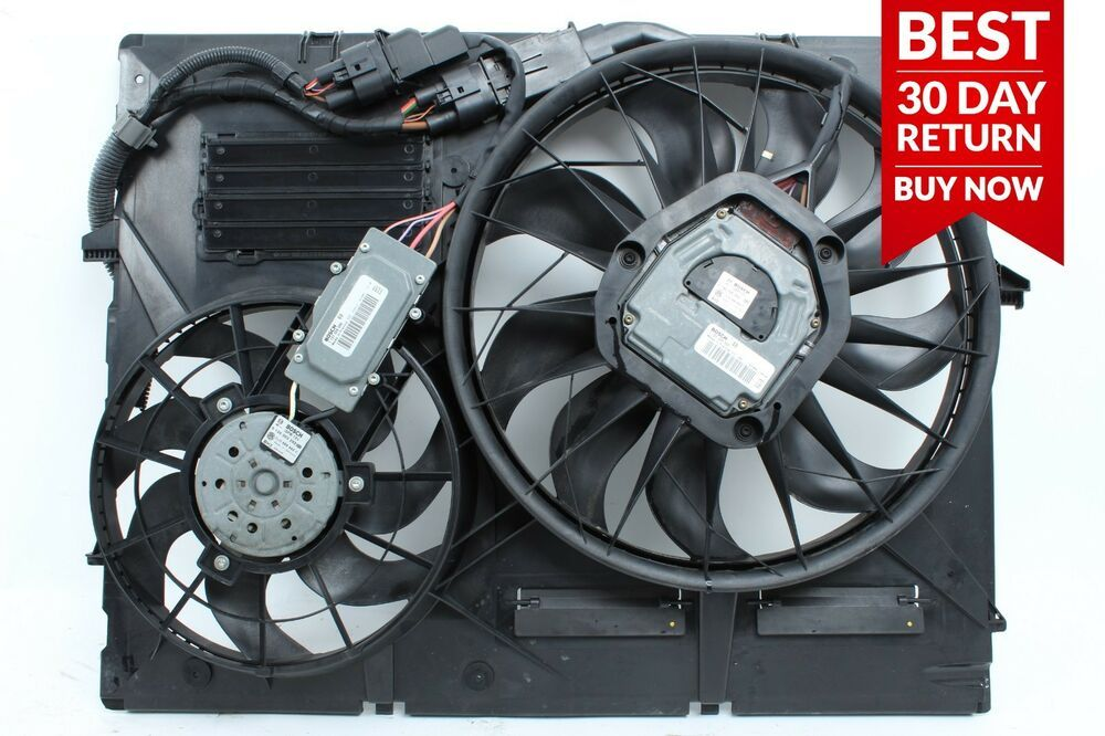 04 06 Porsche Cayenne 955 3 2l Radiator Cooling Fan Motor Shroud