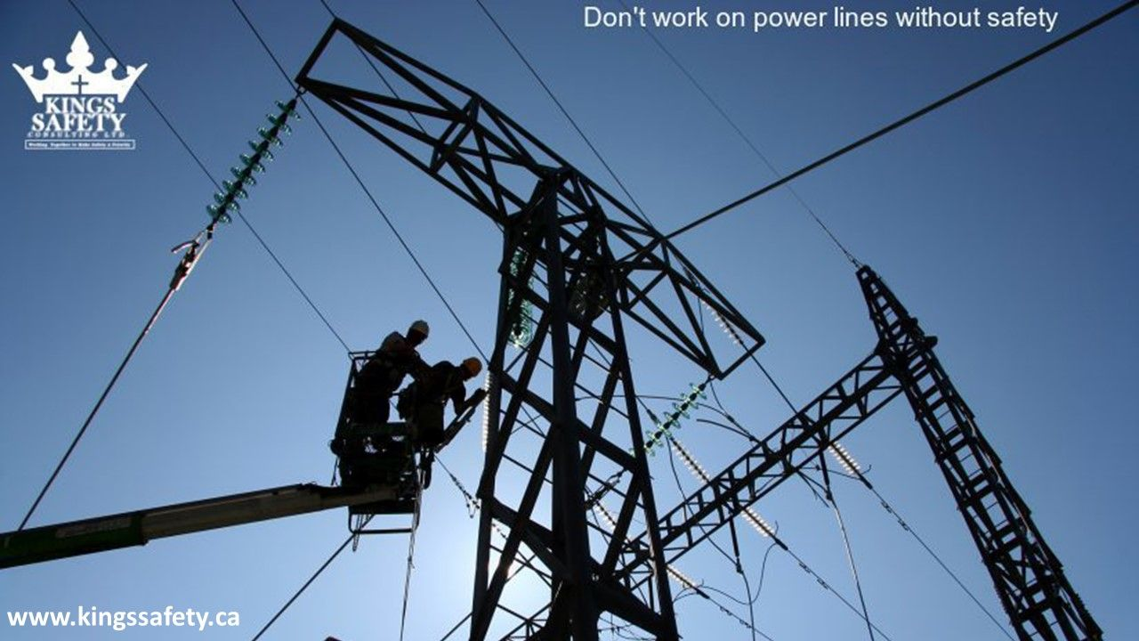 Dealing with electrical lines can cause electrocution, and