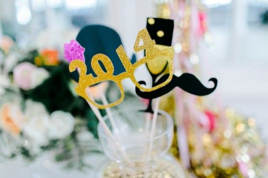 Photo Booth Props New Years Eve Wedding Ideas Ashlee Virginia Events Rachel May Photography Cheers Party Confetti Station