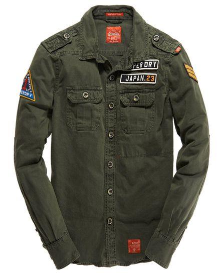 927771a92d87d Mens - Delta Shirt in Congo Green | Superdry | Shirt | Casual shirts ...