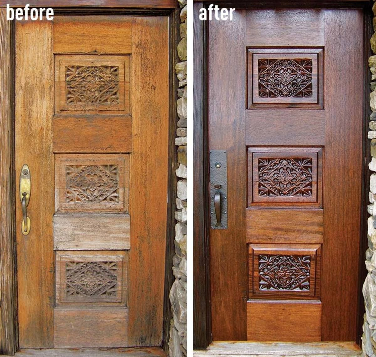 How To Refinish An Entry Door Old Wooden Doors Old Wood Doors
