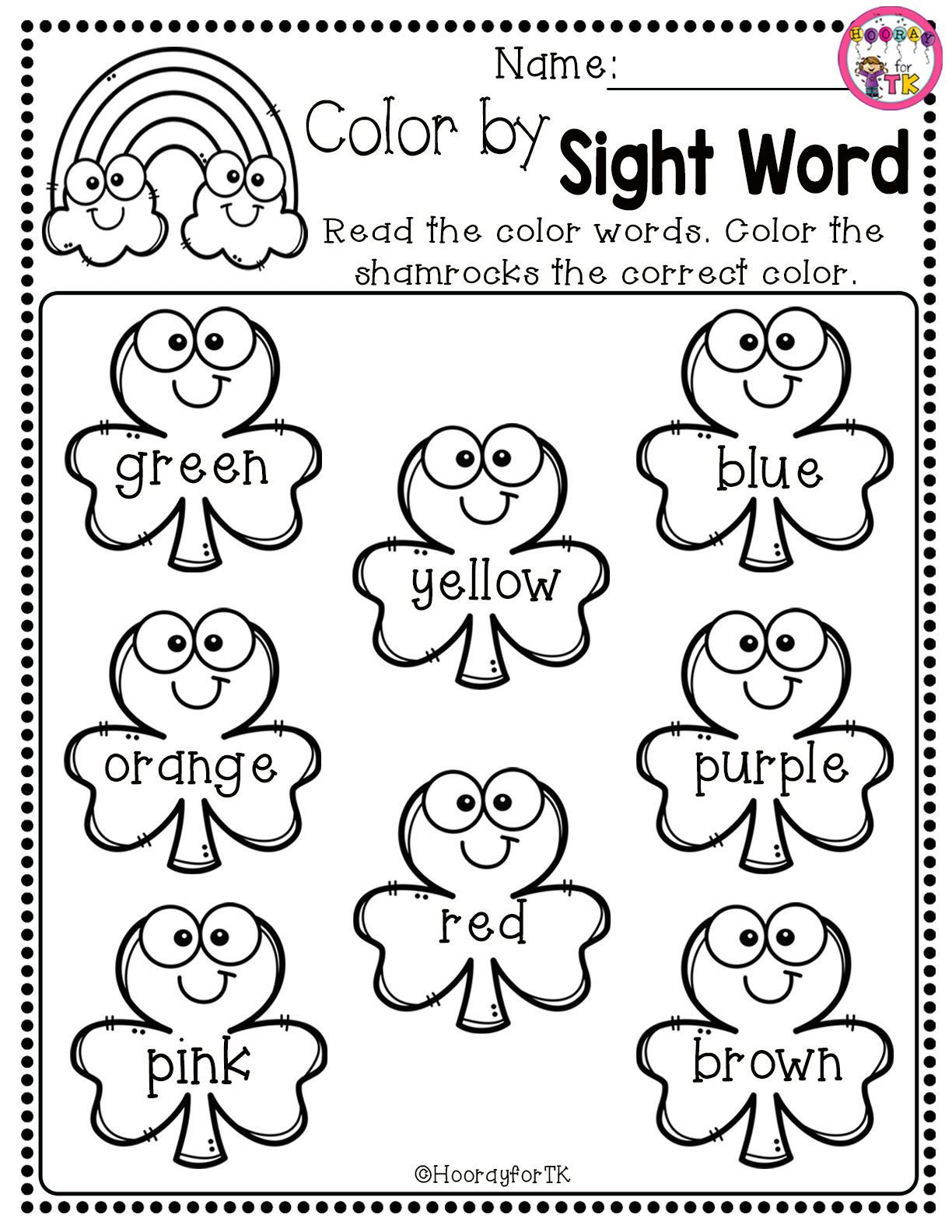 March And St Patrick 39 S Day Worksheet Kindergarten Addition Worksheets Kindergarten Colors Kindergarten Math Worksheets Kindergarten leprechaun math worksheets