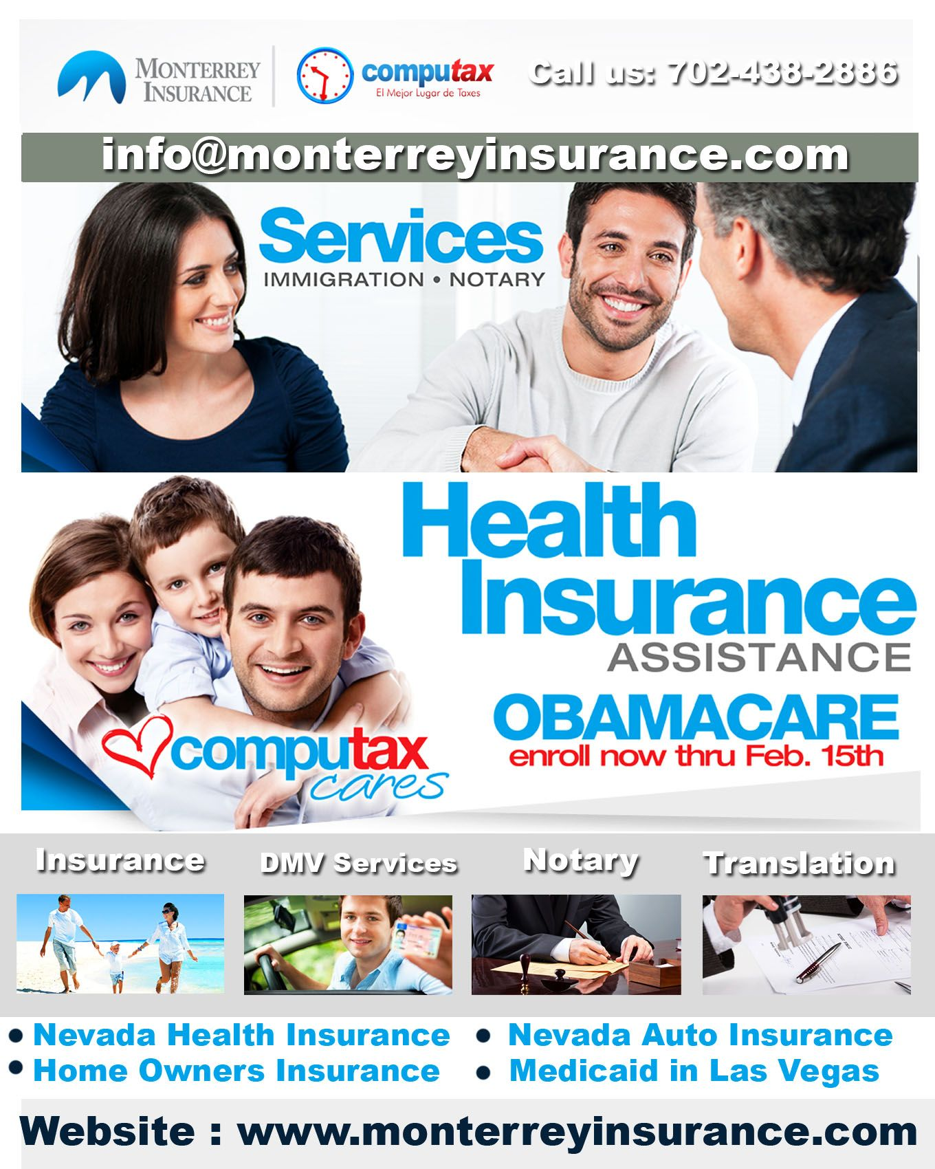 Monterrey Insurance is a certified insurance agency which