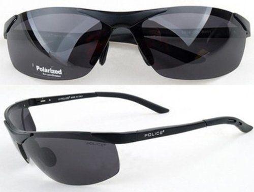 new stylish sunglasses 6h02  New Stylish Polarized 100% UV400 POLICE Sunglasses-Black Frame Black Lens  6806 Police,