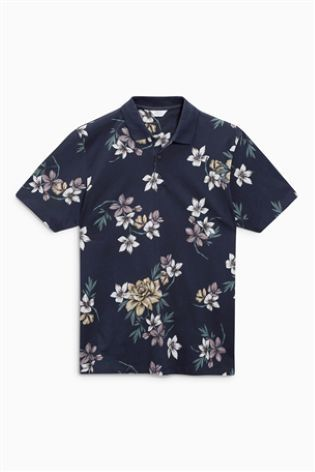 e778758b7 Florals don't *have* to be feminine, especially when it comes to this navy polo  shirt.