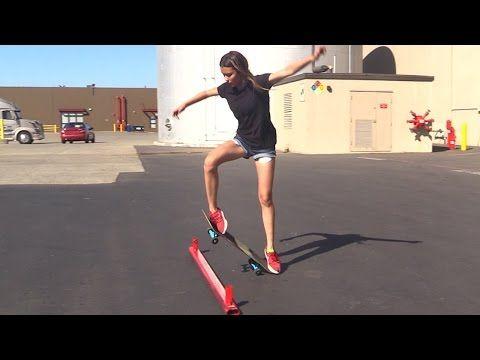 Girl Learns Her First Skateboard Tricks Ep 3 Ollie First Steps Beginner Skateboard Skateboarding Tricks Skateboard