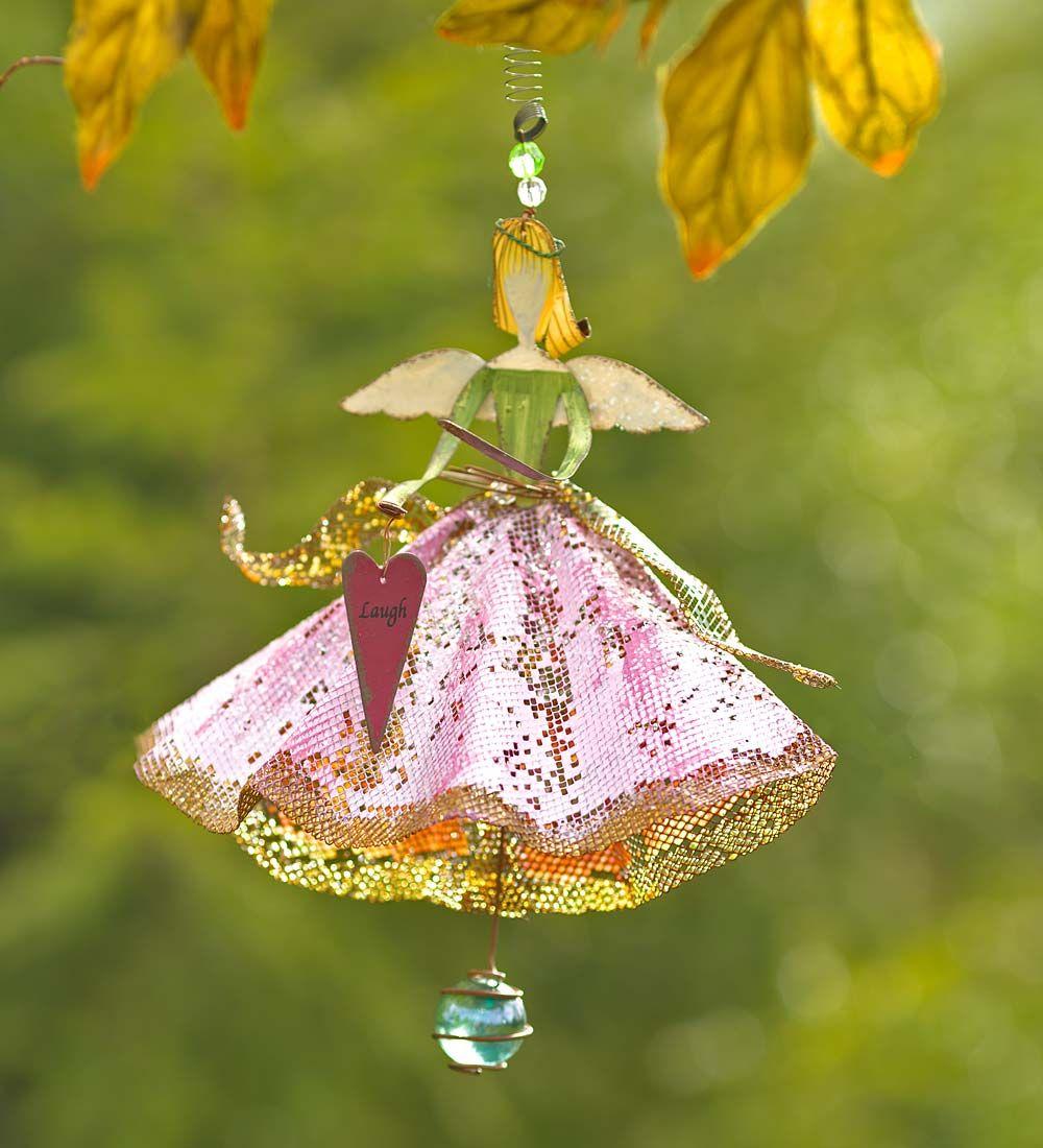 Fairy Princess Hanging Garden Ornament   Decorative Garden Accents ...