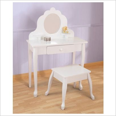 Girls Dressing Table U0026 Stool Set By KidKraft 13009   Wooden Toys Direct