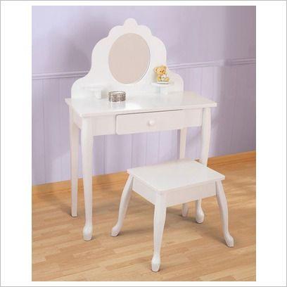 Girls Dressing Table U0026 Stool Set By KidKraft 13009   Wooden Toys Direct