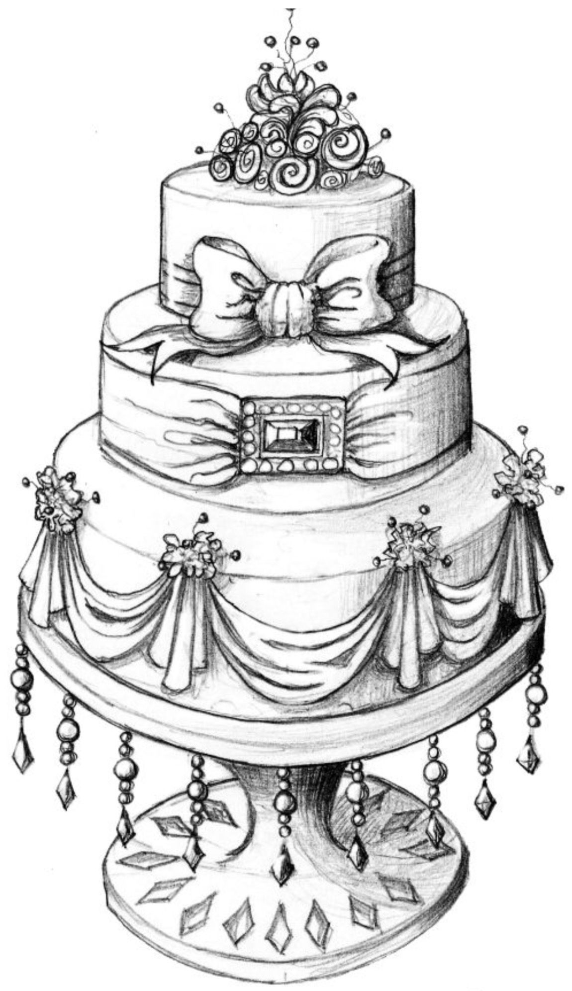 Pin By Marjolein Pompen On Cooking Cake Sketch Cake Drawing Cake Illustration