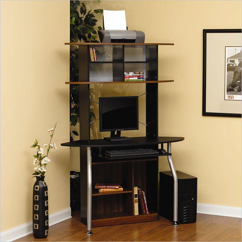 Studio Rta Corner Computer Desk In Black And Maple 408329