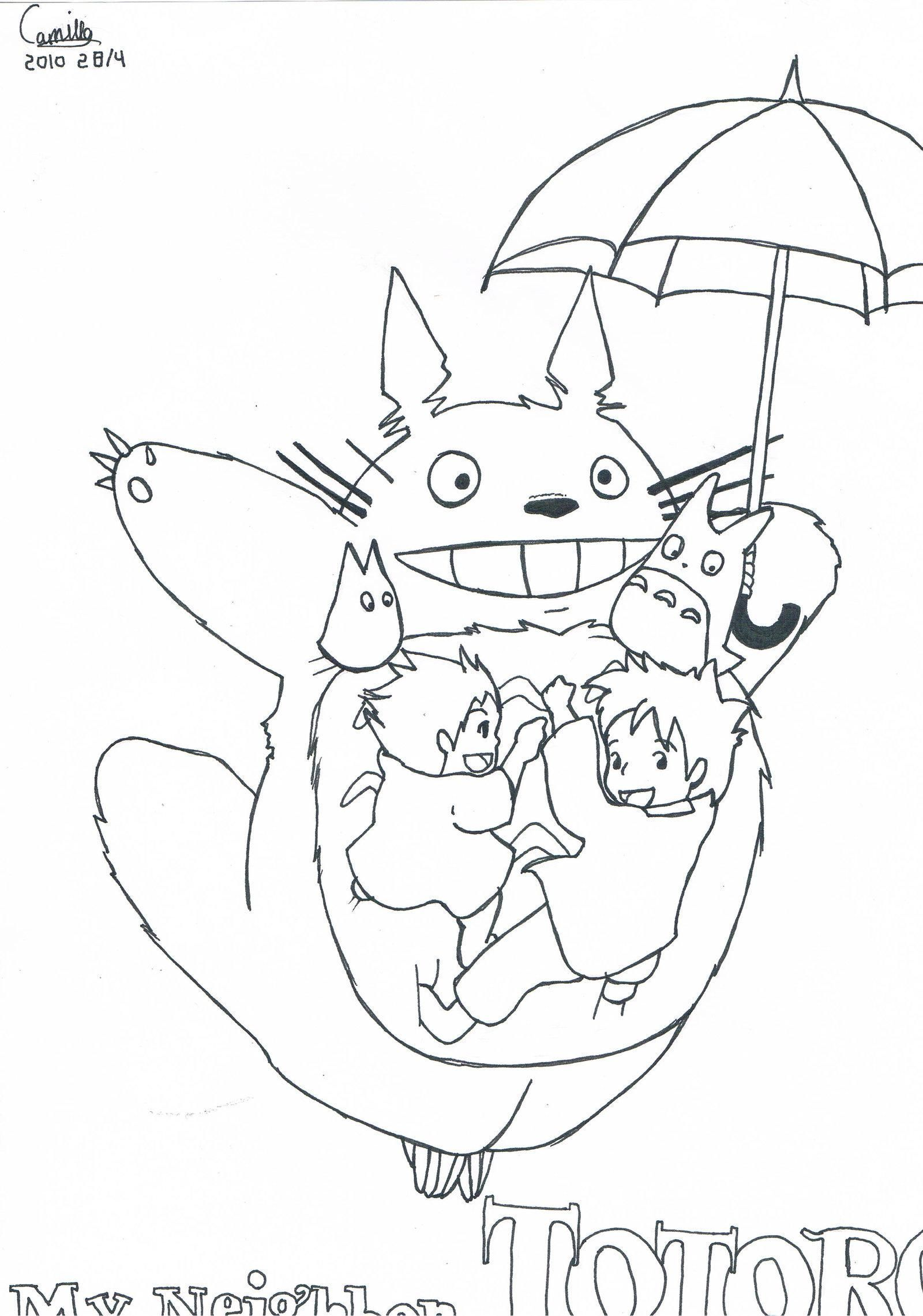 42 Coloriage A Imprimer Princesse Mononoke Totoro Drawing Totoro Art Totoro [ 2281 x 1600 Pixel ]
