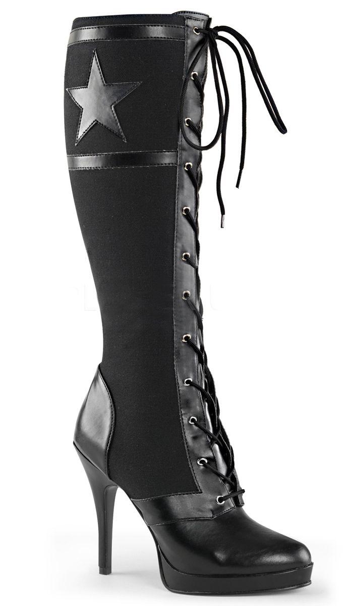 The Violet Vixen - Bettie Battalion - Black Boots, $95.00 (http://thevioletvixen.com/shoes/bettie-battalion-black-boots/)