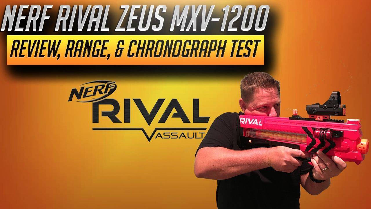 [REVIEW] Nerf Rival Zeus MXV-1200 Review, Firing / Range, &