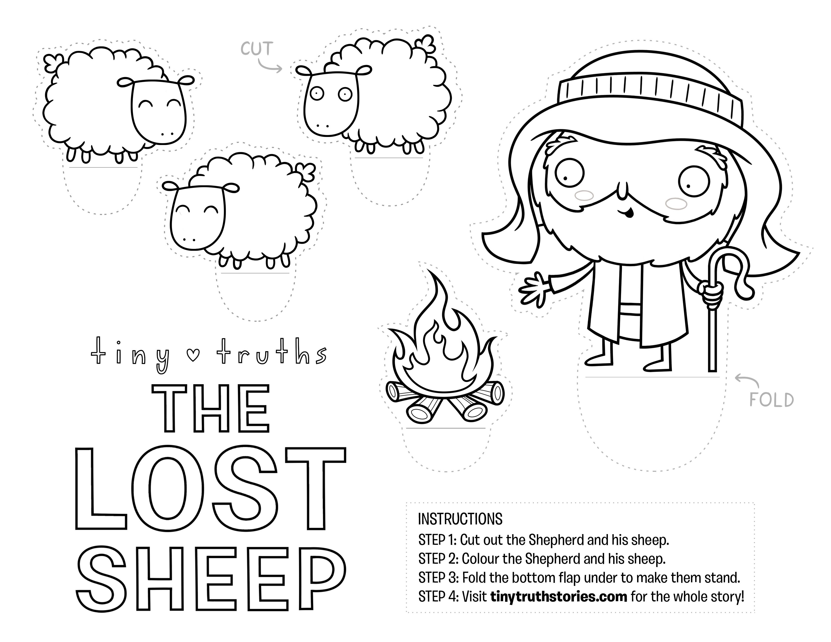 Lovely Craft For Teaching The Lost Sheep Biblecraft