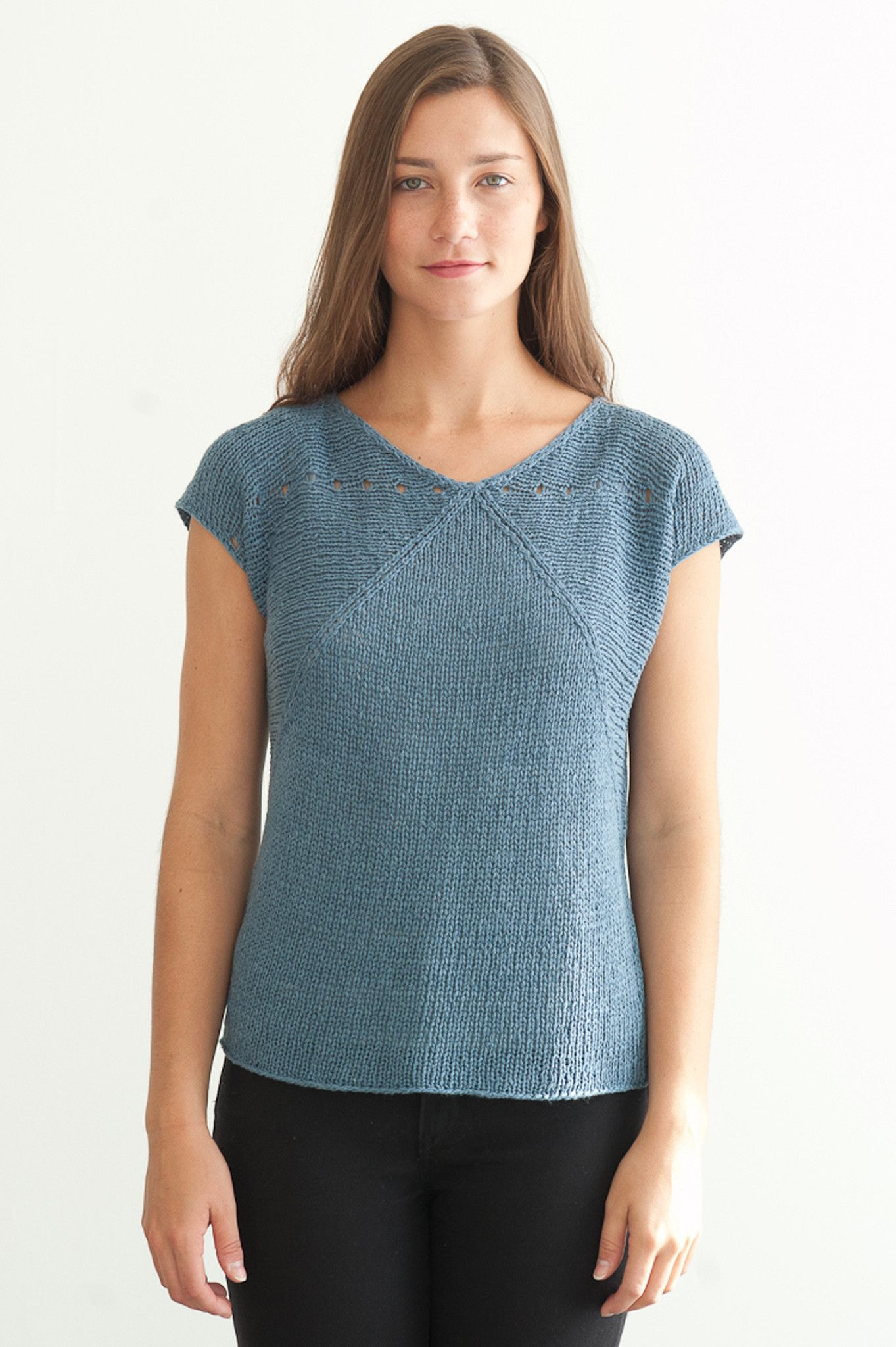 flex tee --> for quince and co linen kestral   Knitted short sleeve ...