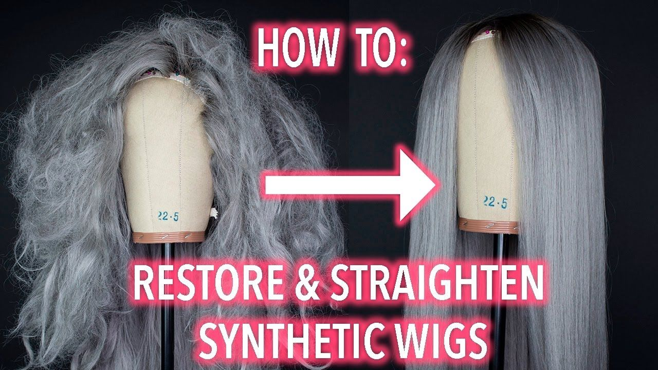 How To Restore and Straighten A Synthetic Wig! YouTube