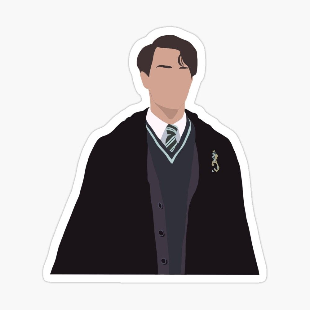 Tom Riddle Sticker By Millycunliffe In 2021 Harry Potter Stickers Harry Potter Drawings Harry Potter Artwork