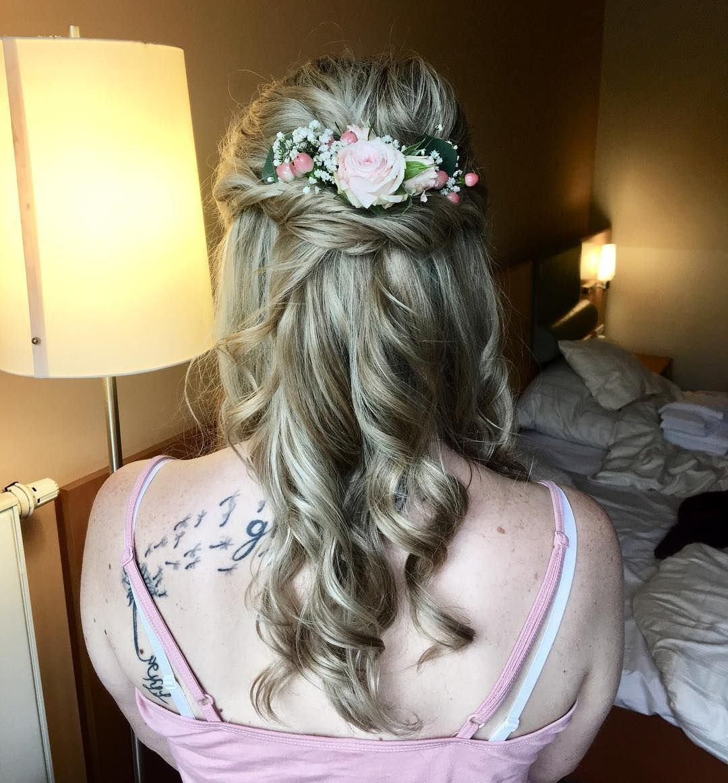 Gorgeous half up half down wedding hairstyle ideas Wedding Hair