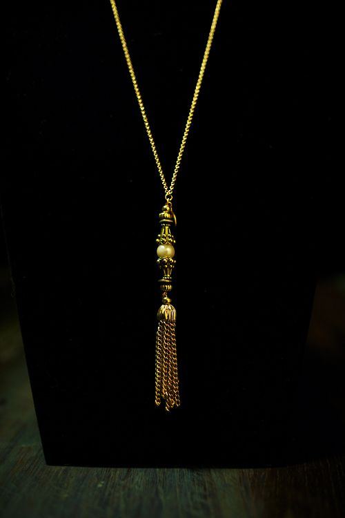 Mia tassel necklace from The Gilded Fox Valentine's Day collection
