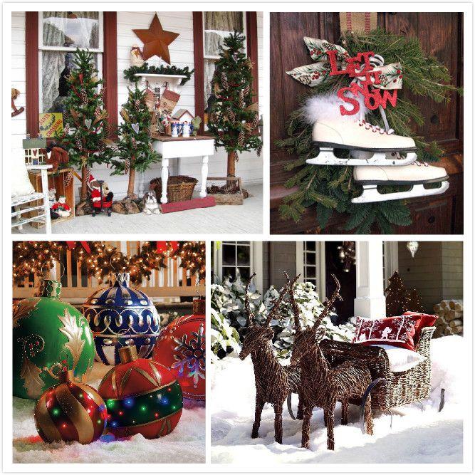 Easy Y Crismas Garden Decoreccion Outdoor Christmas Ornaments Decorate