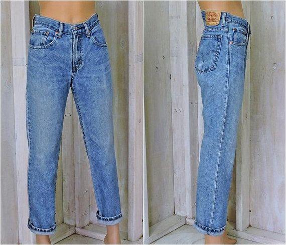 ba9fff0d77f Vintage Levis 516 jeans 31 X 30 womens size 7 / 8 / slim fit / high waisted Levi  jeans