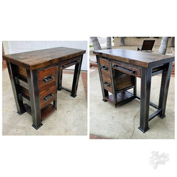 Free Shipping Furniture Stores: Vintage Industrial Reclaimed Desk. New Listing Free