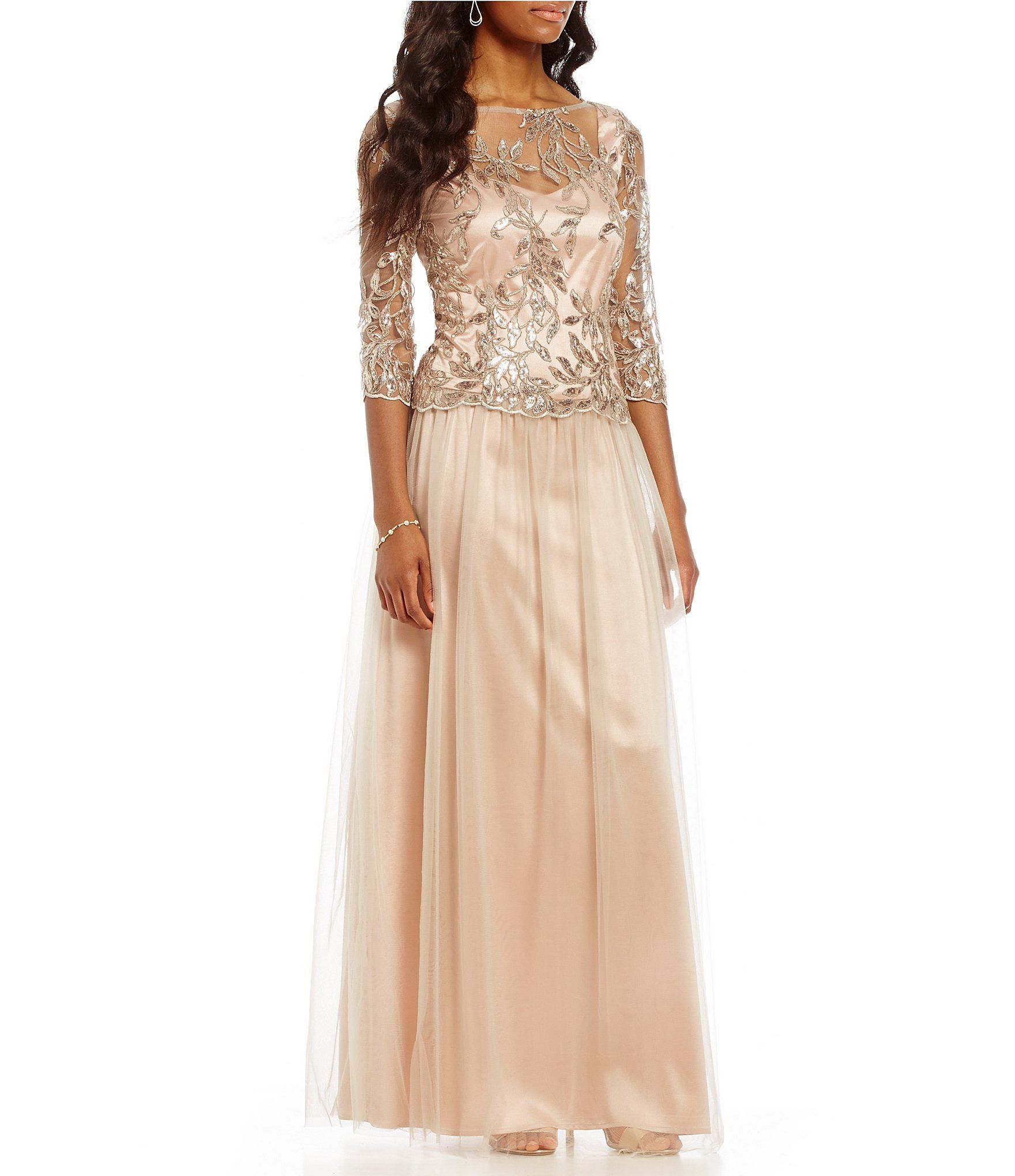 572024a85d8 Brianna Embroidered Sequin Mesh Gown  Dillards Mother Of The Bride