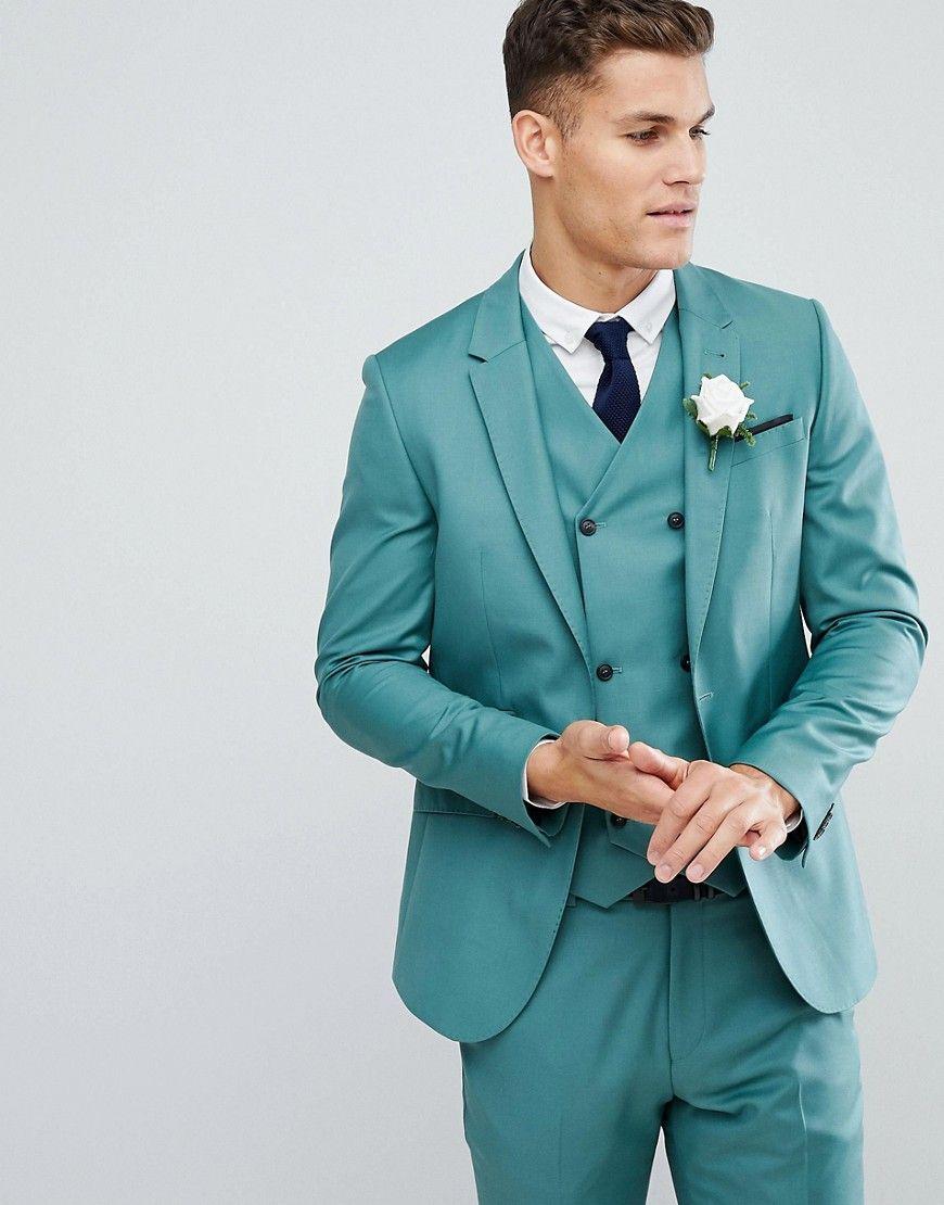 ASOS Wedding Slim Suit Jacket In Pine Green 100% Wool - Green ...