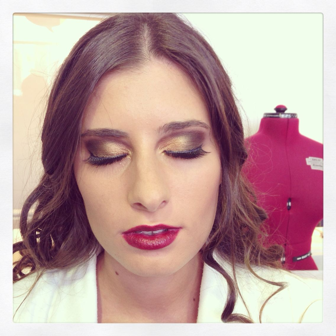 Makeup I did for virgin fashion show! Used Golds and Browns for this look.