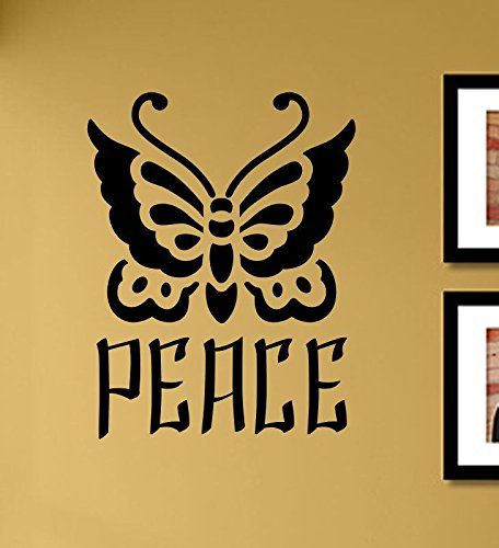 Peace Butterfly Vinyl Wall Art Decal Sticker -- BEST VALUE BUY on ...